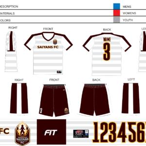 Saiyans FC Home Shorts