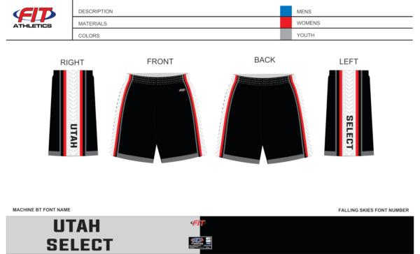 Utah Select Pocketed Shorts (Black)