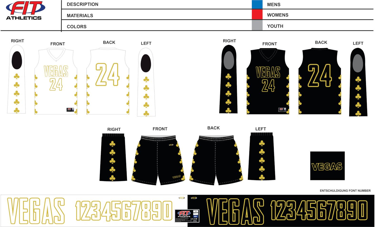 Vegas Reversibles Basketball Jersey (2019)