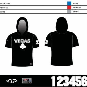 Vegas Short Sleeve Hooded Shooter Shirt