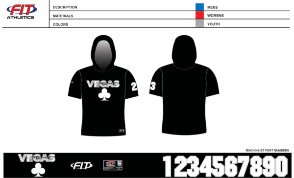 Vegas Short Sleeve Hooded Shooter Shirt